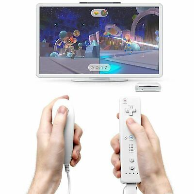 Remote Wiimote + Nunchuck Controller Set Combo for Nintendo Classic Wii U Games 6