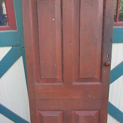 Antique Hand Made Wooden Cross & Book Door, Bennington Knob,Through Tenon,1840's 3