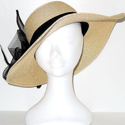 Cappello elegante cerimonia falda fascinator piume veletta nero rosa blu D0596 4