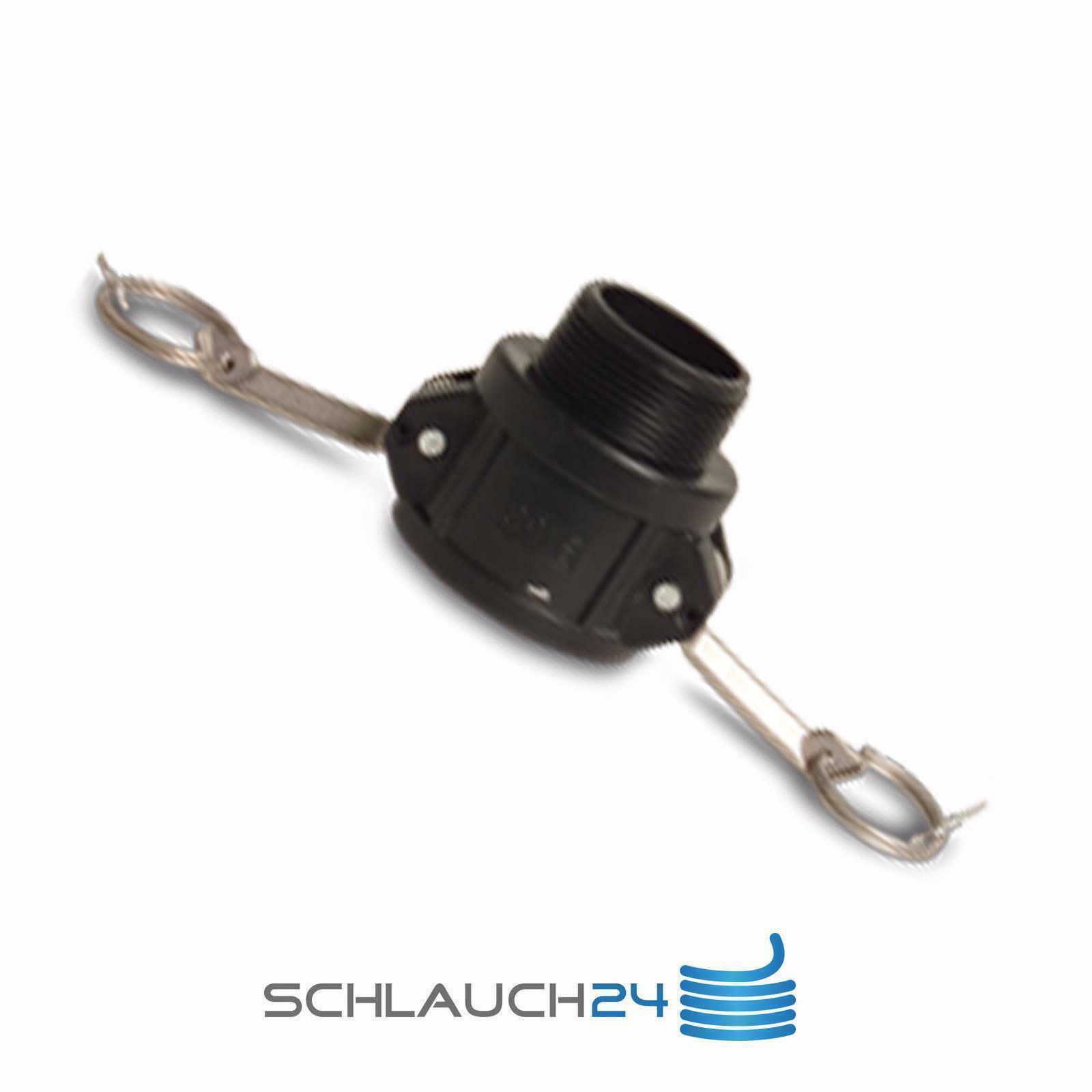 DE DN15 Edelstahl Kamlok Hebelamaturen Hebelarm Adapter Kupplung Camlock