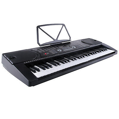 Modern MK2089 61Tasten Elektronische Klavier Keyboards Mikrofon Digital Schwarz 3