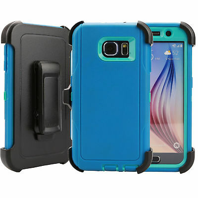 For Samsung Galaxy S6 Case Cover Rugged With (Belt Clip Fits Otterbox Defender) 5