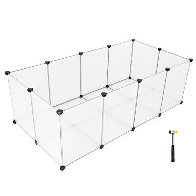 Laufstall mit Bodenplatten Freigehege Kunststoff-Laufgitter Kleintiere LPC02W 5