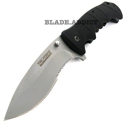 """9"""" TAC-FORCE BLACK Spring Assisted Open TACTICAL Folding Pocket Knife NEW 2"""
