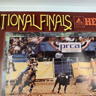 "Vtg 1999 NFR National Finals Rodeo Las Vegas PRCA Hesston 26x20"" VGC 3"