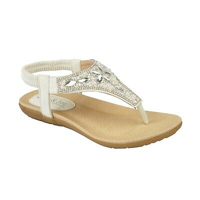 Ladies Flat Low Wedge Sandals Women Summer Beach Fashion Gladiator Strappy Shoes 6
