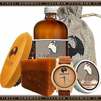 Hand Crafted Deep Forest Beard Oil Conditioner 2oz By Caveman® Beard Care Shave Health & Beauty