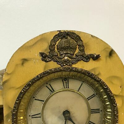 Antique Faux Marble Painted Waterbury Mantel Clock 2