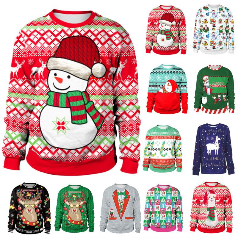 DAMEN HERREN WEIHNACHTEN Sweater Sweatshirts Ugly Pullover