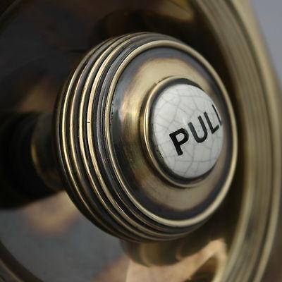 Victorian Style Brass Claverley Front Door Bell Pull & Bell 5