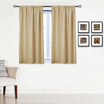 Gardinen Vorhang blickdicht mit Kräuselband Thermo Verdunkelung 250g/m2 #330-a 12