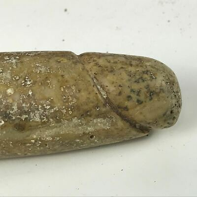 Authentic Pre-columbian Mayan Figural Carved Stone Penis Artifact #39 3