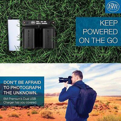 BM 2 LP-E6N Batteries & Dual Charger for Canon EOS-R 60D, 70D EOS 80D C700 XC15 6