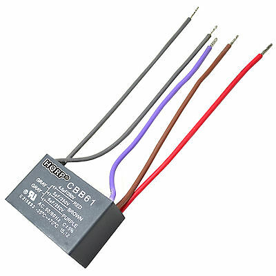 2-PACK CAPACITOR FOR Harbor Breeze Ceiling Fan 4.5uf+5uf+6uf 5-Wire ...