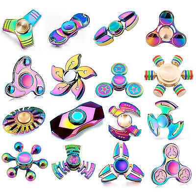 Fidget Finger Spinner Hand Focus Rainbow Spin Aluminium EDC Bearing Stress Toys