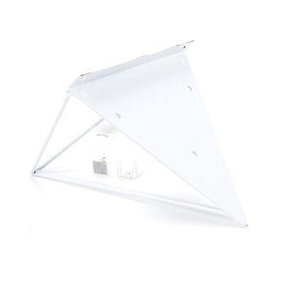 2X Shelf Brackets Metal Prism Mount Floating Wall Mount Support Leg UK 9