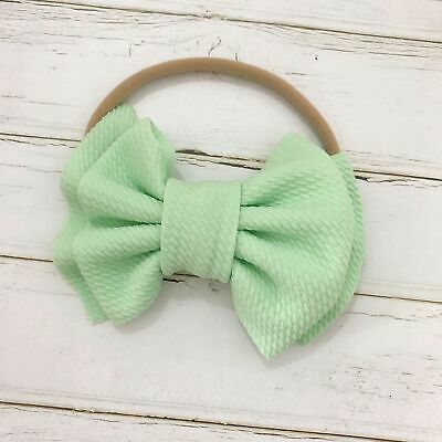 Handmade Baby Girls Simple Corn Bow Infant Headband Hair Band Knot Head Wrap 5