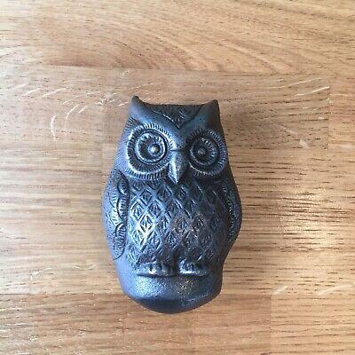 Owl Cast Iron Door knocker Antique Iron Vintage Country Cottage Style 4