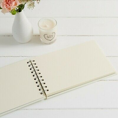 A5 Luxury Ivory Memory Book & 2 Signs Set - Funeral, Condolence Book, Memorial 4