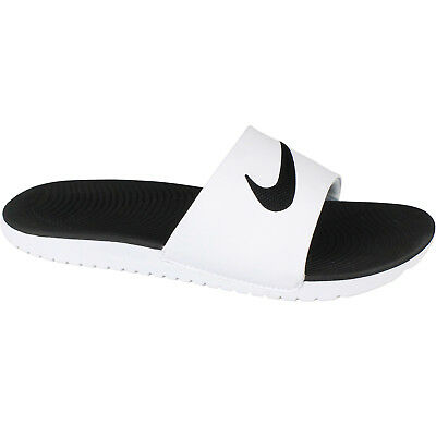 Nike Kawa Slide Slider Slip On Solar Soft Pool Sandals Junior Womens White Black 4