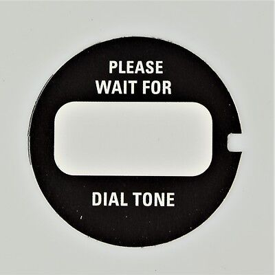 Western Electric Dial Card with Acetate x 2 - Best on the Market! - SKU - 24783 2