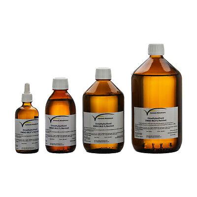 DMSO 1000 ml Dimethylsulfoxid  99,9 %  Reinheit im hydrolytischem Braunglas 3