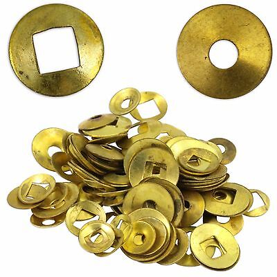 Brass Clock Washers Square & Round hole 200 washer Clockmaker Movement Repair 2