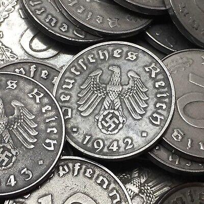 Rare WW2 Nazi Germany 3rd Reich 10 Reichspfennig Swastika Coin Buy 3 Get 1 Free 2