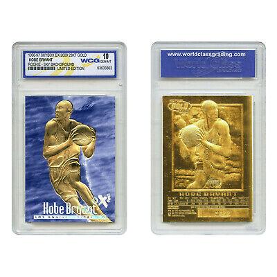 1996-97 KOBE BRYANT SKYBOX EX-2000 Credentials 23K GOLD ROOKIE BLUE *GEM MINT 10 2