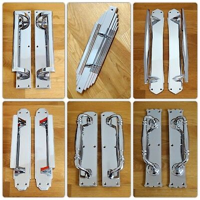 Chrome Or Nickel Escutcheons Door Keyhole Cover Plates Handles Knobs Covers 2