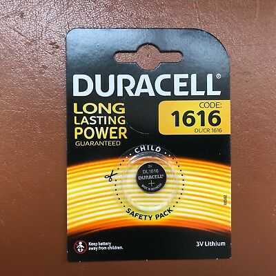 2 x Duracell CR1616 3V Lithium Coin Cell Battery DL1616 1616 LONGEST EXPIRY DATE 2
