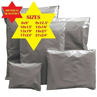 Grey Mailing Bags Strong Post Mail Postage Poly Bag Postal Self Seal Plastic 2