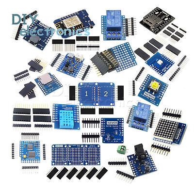 WeMos D1 Mini NodeMcu Lua ESP8266 Relay Shield Proto Board WiFi Module US 3