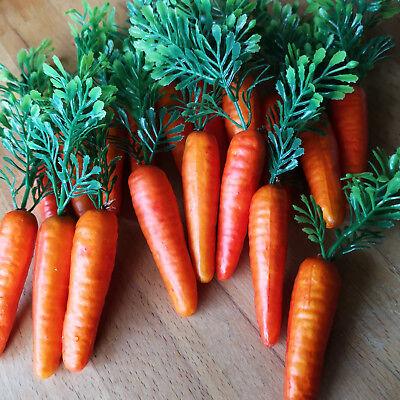 18 x Möhren Karotten 6.5cm Schneemann Nase Dekoration Ostern Gemüse Kunstgemüse 8
