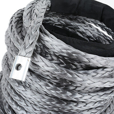 Winch Rope 10MM x 30M Dyneema SK75 Hook Synthetic Car Tow Recovery Cable 4
