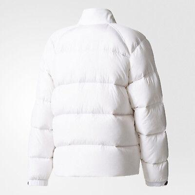 adidas Originals Womens SST Superstar Down Padded Coat White Puffa Bomber Jacket