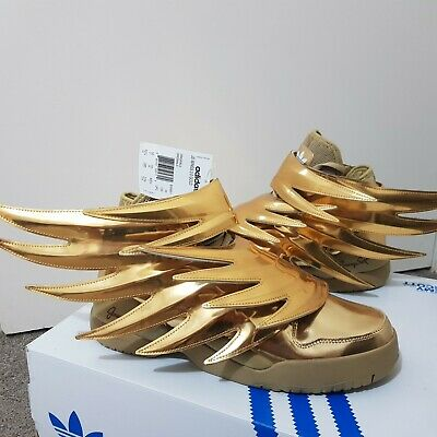 ADIDAS JEREMY SCOTT Gold Wings 3.0 New in Box US 10.5 Mens