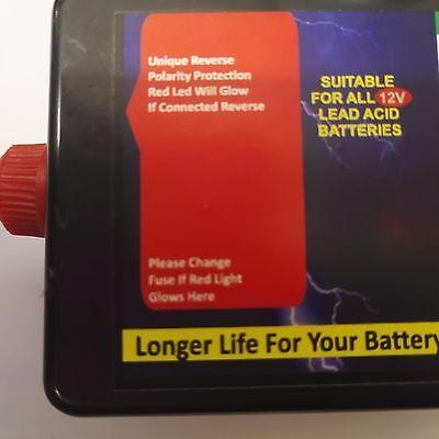 Battery life increase 12 Volt 12v  LEAD ACID BATTERY DESULPHATOR DESULFATER