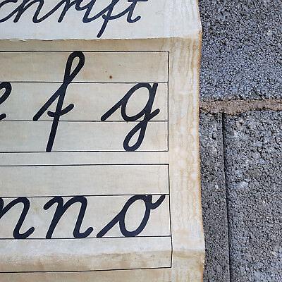 Friedrich Gutsch Schulwandkarte Lehrtafel Latein um 1850 Karlsruhe i.B