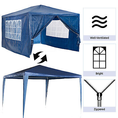 3X4M Gazebo Marquee Party Tent With Sides Waterproof Garden Patio Outdoor Canopy 3