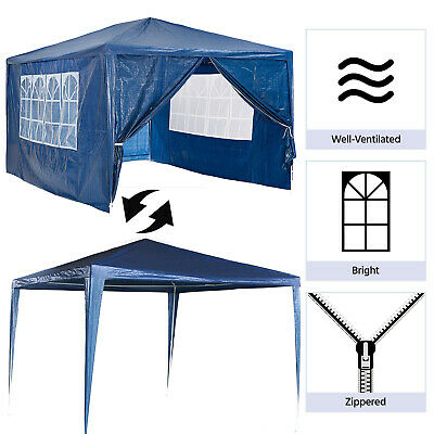 3x4M Gazebo Waterproof Outdoor Garden Gazebo Marquee Patio Canopy PE Party Tent 3