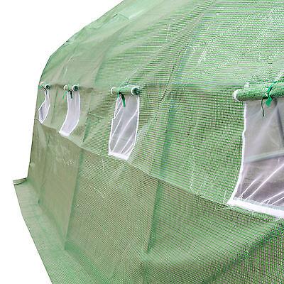 Invernadero de jardín vivero casero plantas cultivos carpa plástico 600x300x205
