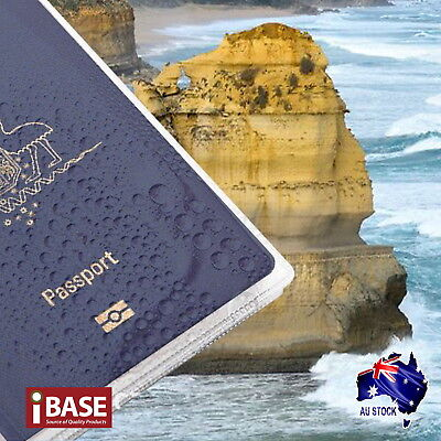 2x Passport Cover Transparent Protector Travel Clear Holder Organiser Wallet 2