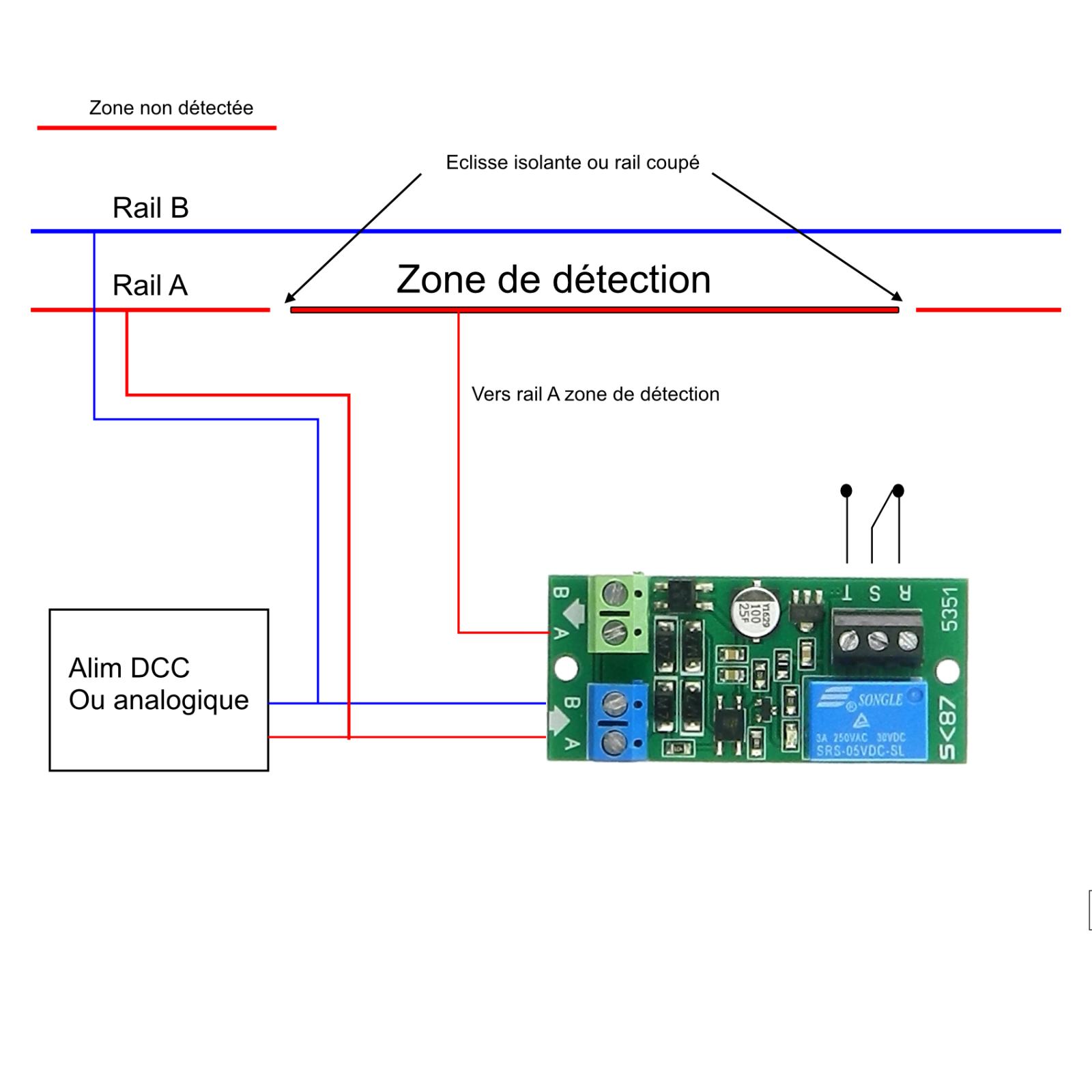 5351# Module détection de présence et d'occupation réseaux analogique et DCC 4
