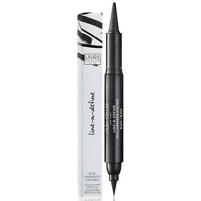 NEW Laura Geller Line-N-Define Dual Dimension Kohl & Liquid Eyeliner - Black 3