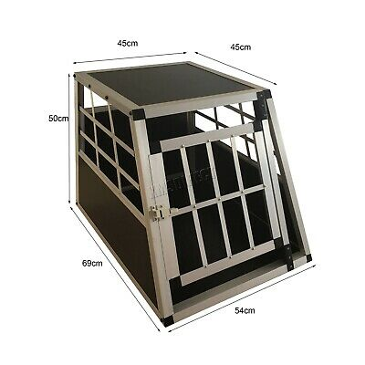 FoxHunter Aluminium Dog Pet Puppy Cage Kennel Travel Transport Crate Carrier BOX 8