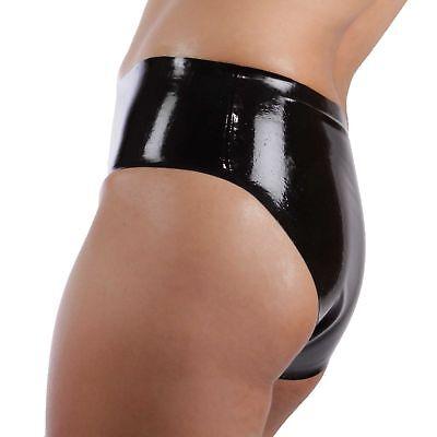 Latex Slip Ouvert aus Rubber in schwarz, neu original verpackt, Einheitsgröße