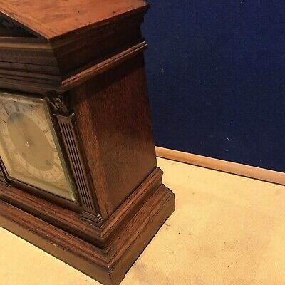 bracket clock Oak Cased W & H Superb 6