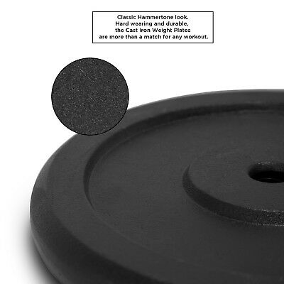 """JLL® Cast Iron 1""""Weight Plates for Dumbbell Weight Lifting Bars - 0.5kg to 20kg 3"""