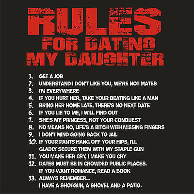 Rules to date my daughter in Australia